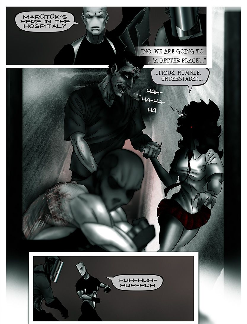 The team moves to confront Marutuk, from the comic book series: THE FLOOD ~ a salvation myth