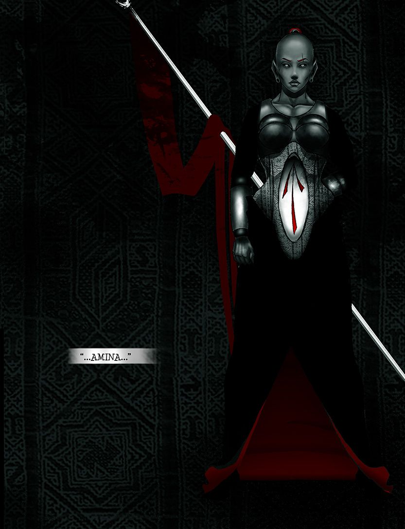 First appearance of Amina, from the comic book series: THE FLOOD ~ a salvation myth